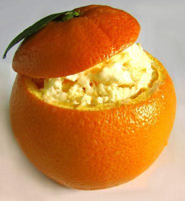 Lody Pomarańczowe w Pomarańczowych Miseczkach