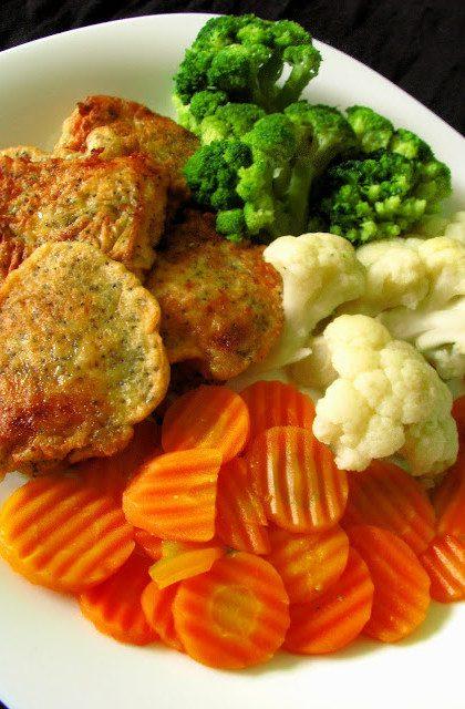Makowa Rybka z Warzywami w Białym Winie
