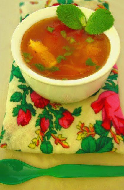Zupa Pomidorowa z Pomarańczami i Miętą