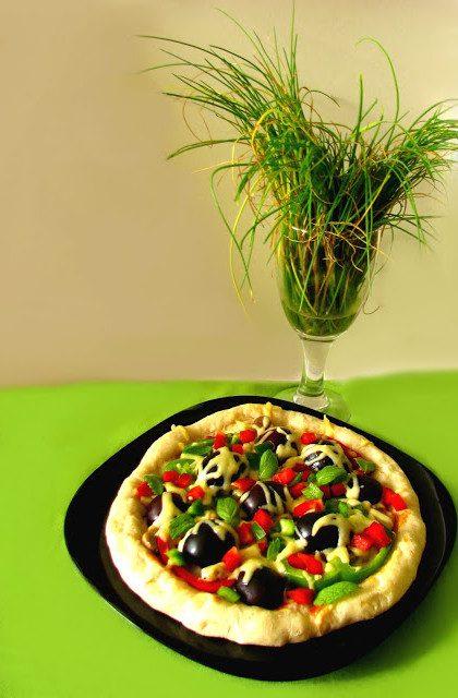 Pizza ze Śliwkami i Miętą
