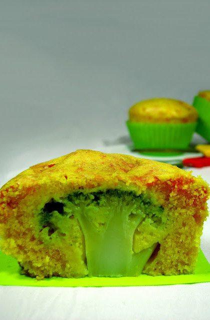 Wytrawne Muffinki z Brokułami