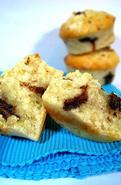 Bananowe Muffinki z Kawałkami Czekolady