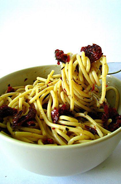 Makaron z Suszonymi Pomidorami