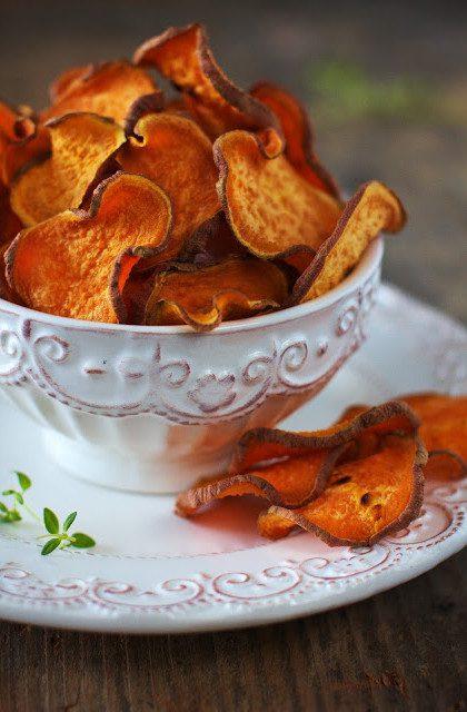 Chipsy ze Słodkich Ziemniaków