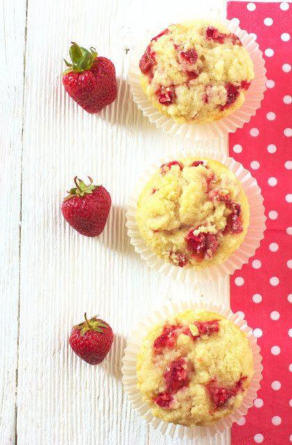 Muffiny z Truskawkami i Kruszonką