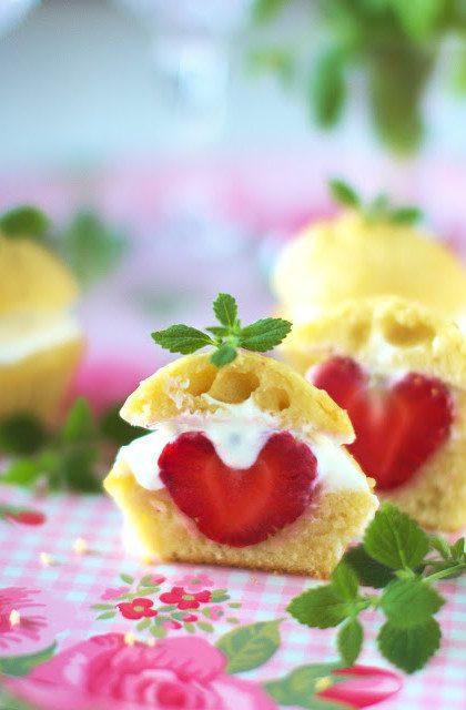 Muffiny z Truskawkami i Mascarpone