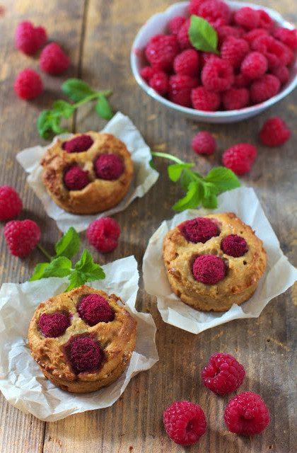 Muffiny Pełnoziarniste z Malinami