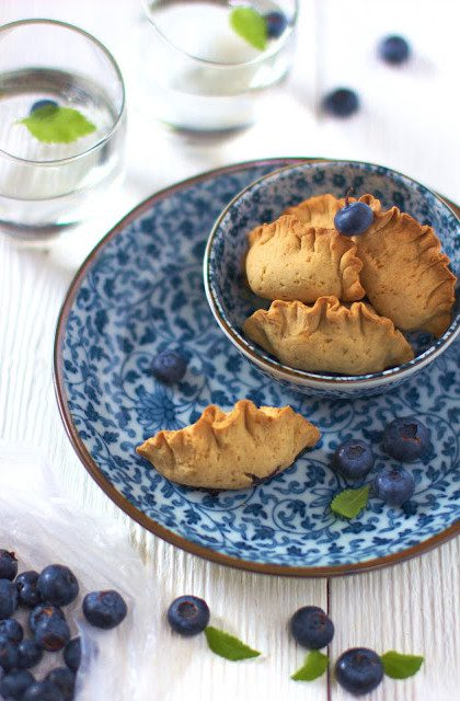 Pieczone Pierogi z Jagodami