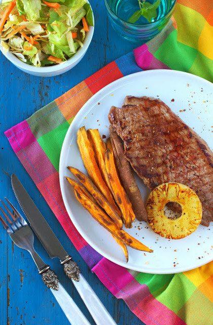 Stek z Ananasem