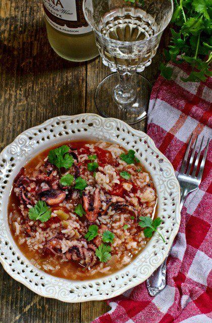 Ryż z Pomidorami i Ośmiornicą