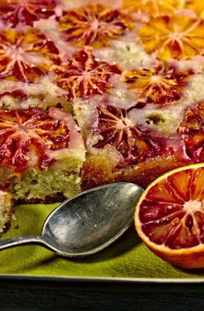 Odwrócone Ciasto z Krwistymi Pomarańczami