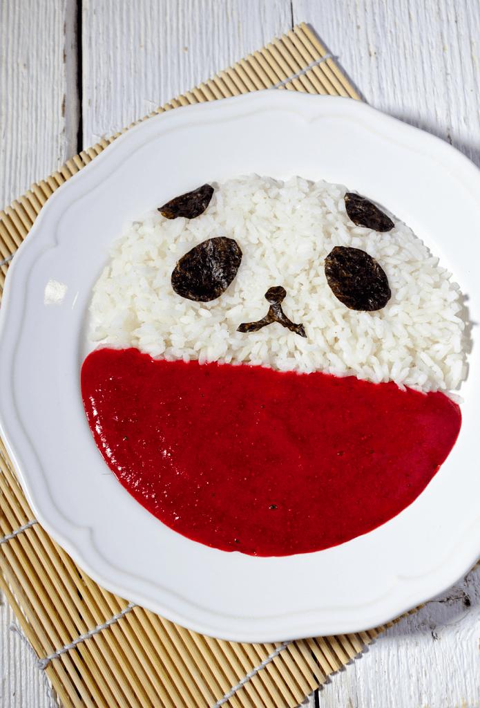 Ryż z Truskawkami Panda