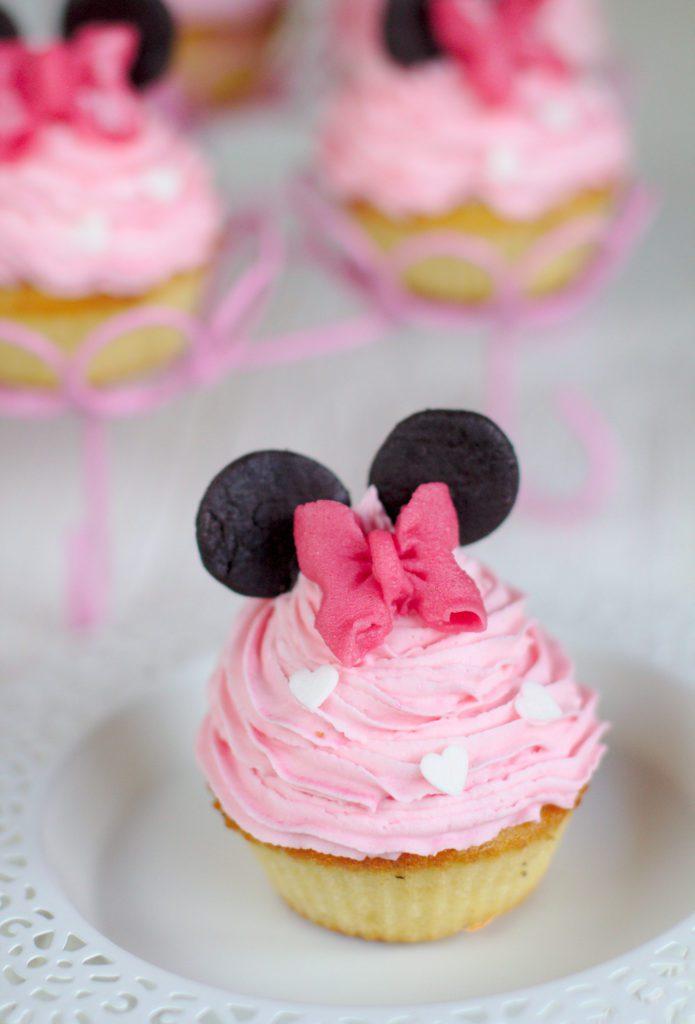 Waniliowe Cupcakes Babeczki z Myszką Minnie