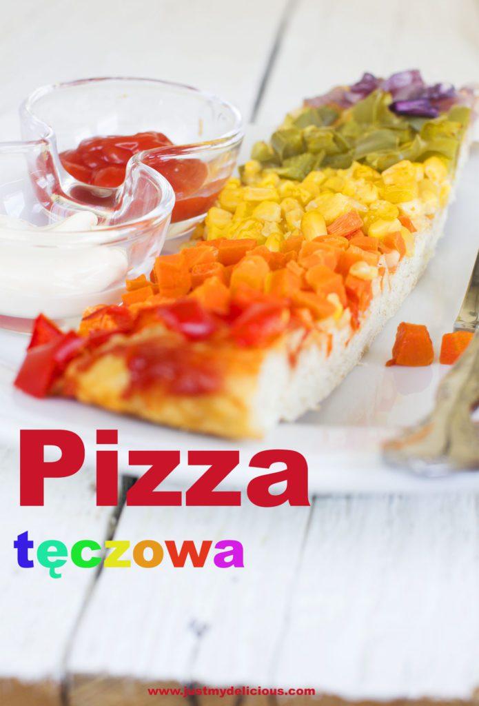 Pizza Tęczowa Wegetariańska