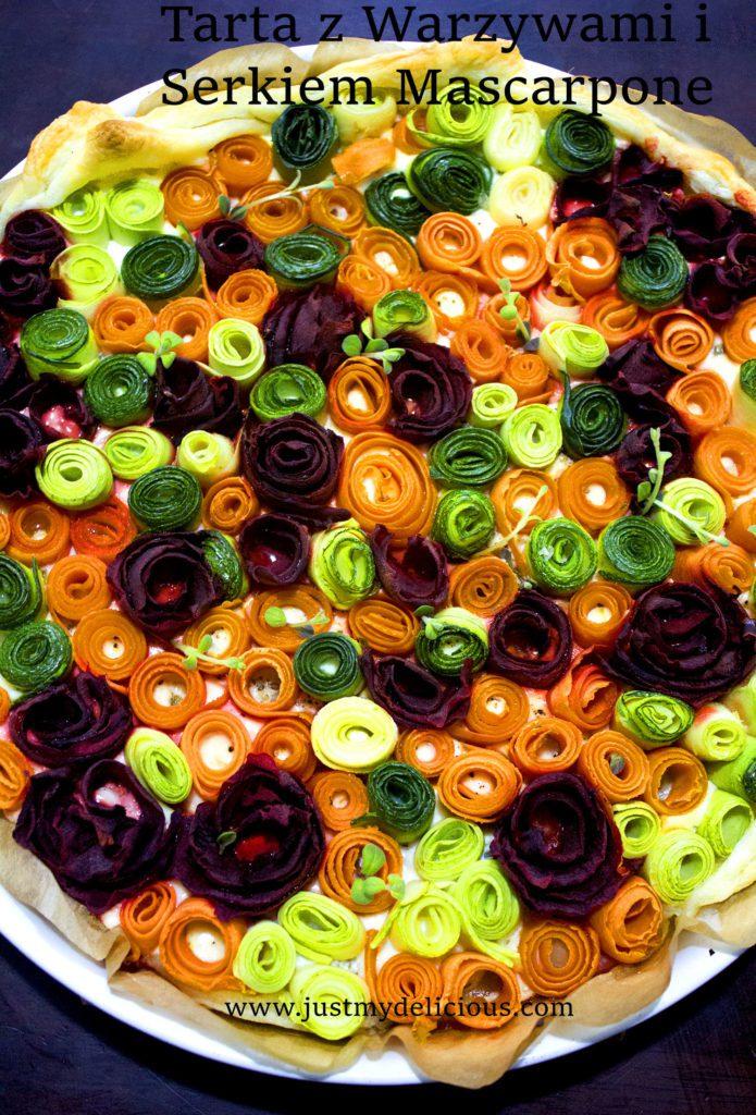 Tarta z Warzywami i Mascarpone