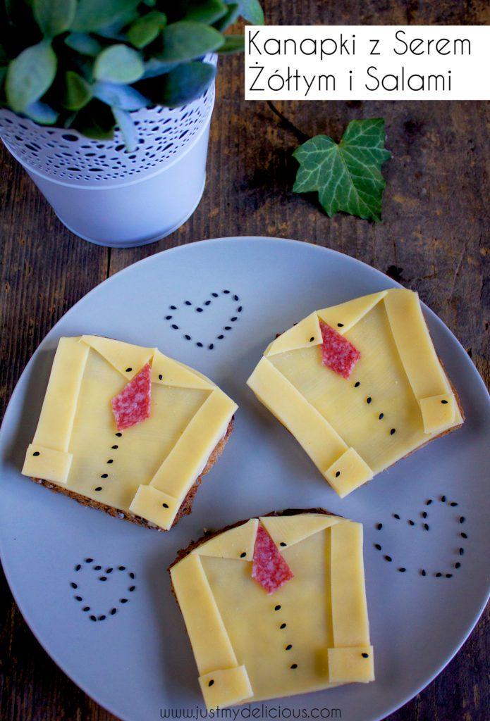 Kanapki z Serem Żółtym i Salami