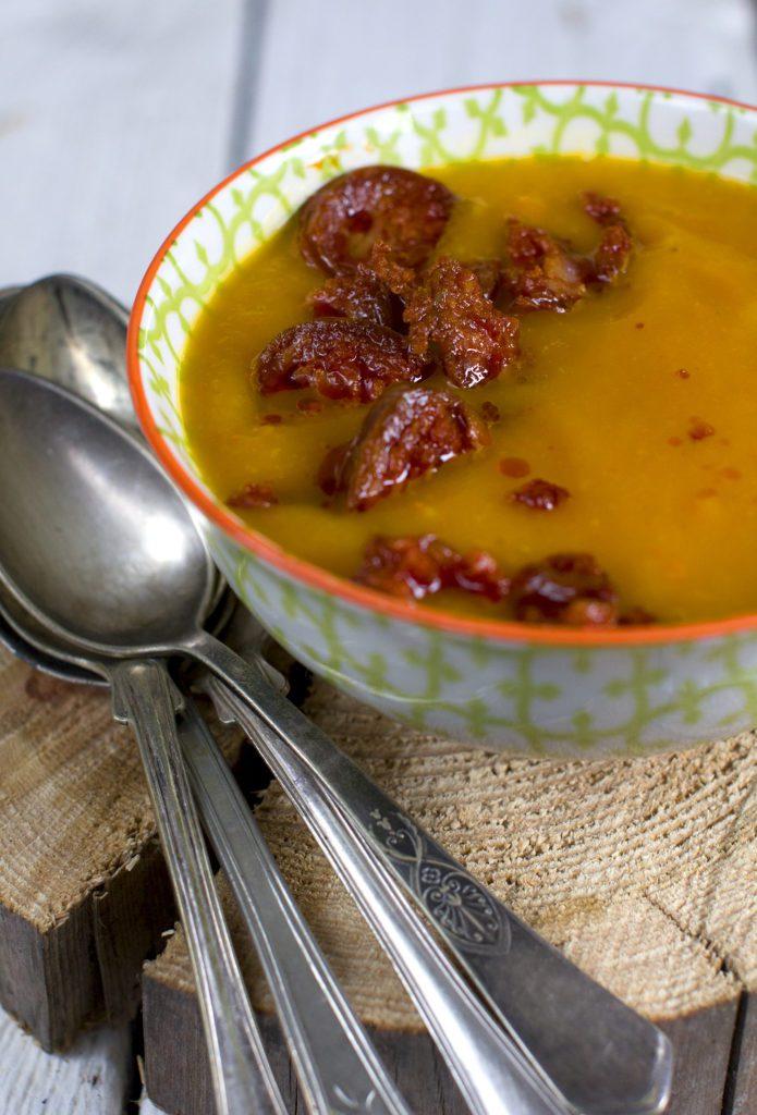 Zupa Krem z Dyni z Kiełbasą Chorizo