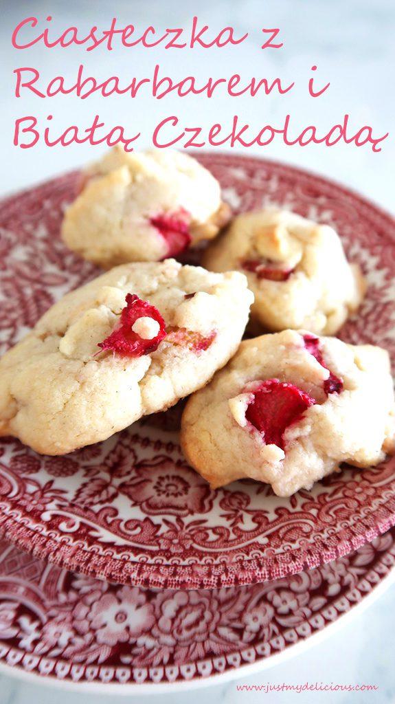 Ciasteczka z Rabarbarem i Białą Czekoladą