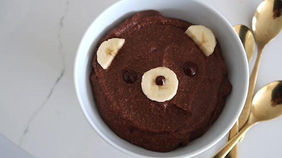 budyń jaglany czekoladowy