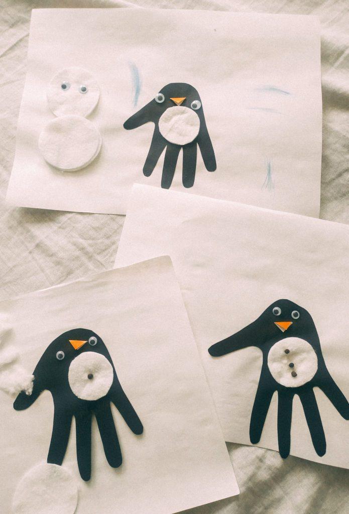 Pingwinki z Papieru – Zimowa Praca Plastyczna dla Dzieci