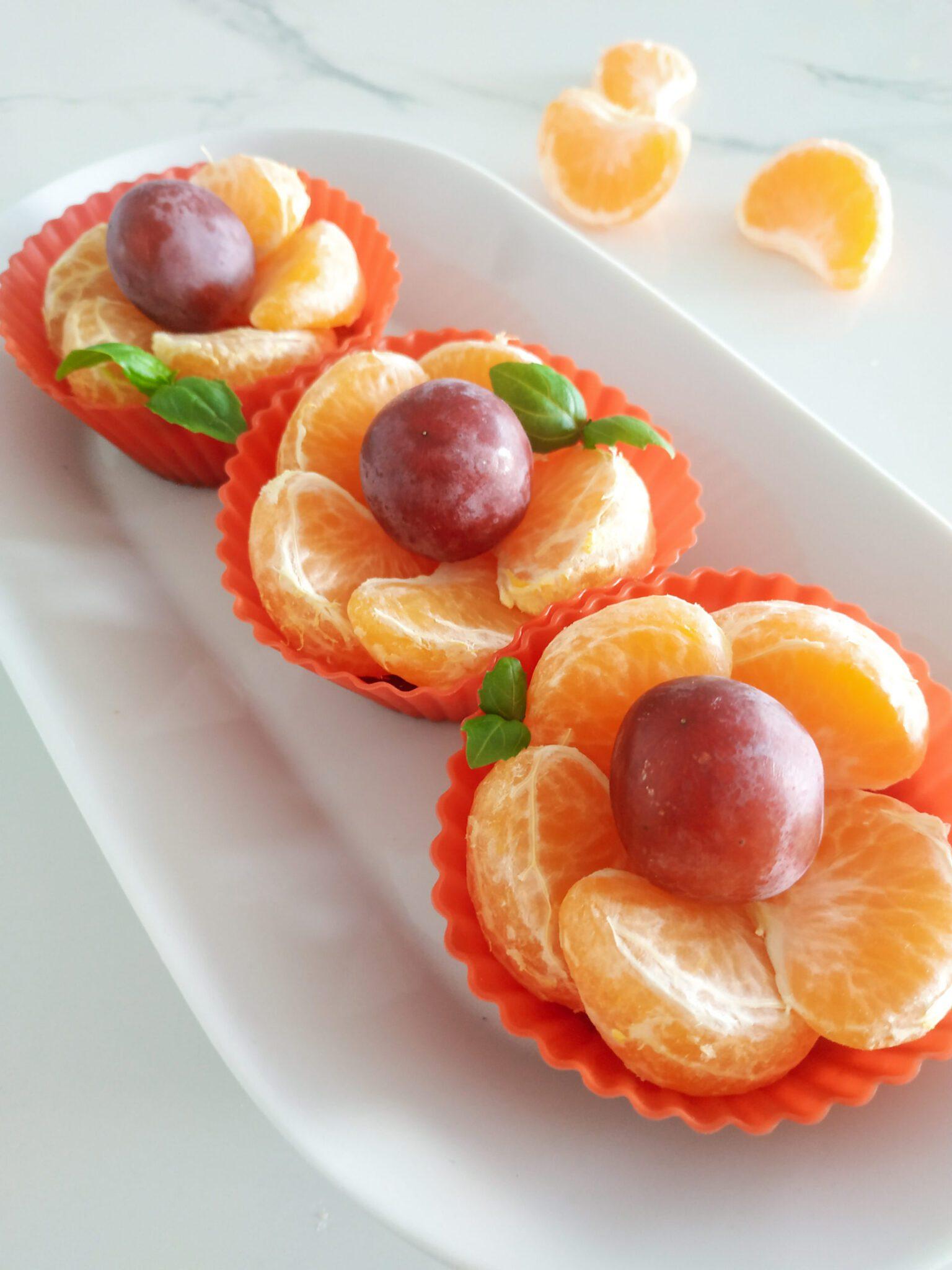 Kwiatki z mandarynek