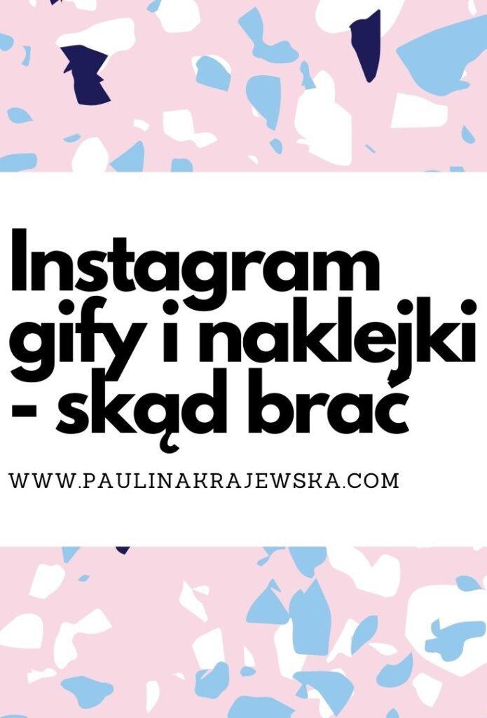 Instagram Gify i Naklejki